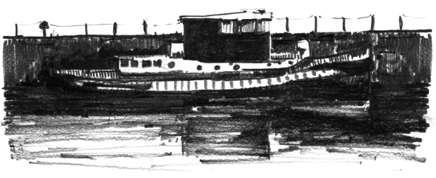 Hatcher-Prichard-Architects-Bristol-Cardiff_Sketch_Tug Boat_Bristol Dock