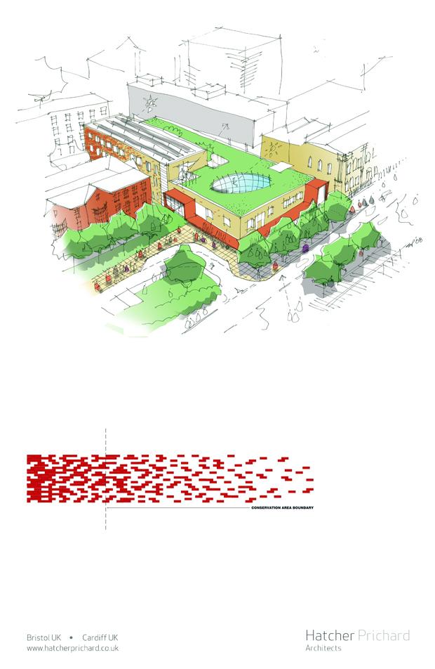 Hatcher Prichard Architects Bristol Cardiff_New York Sketch Exhibition_D3 Space_2