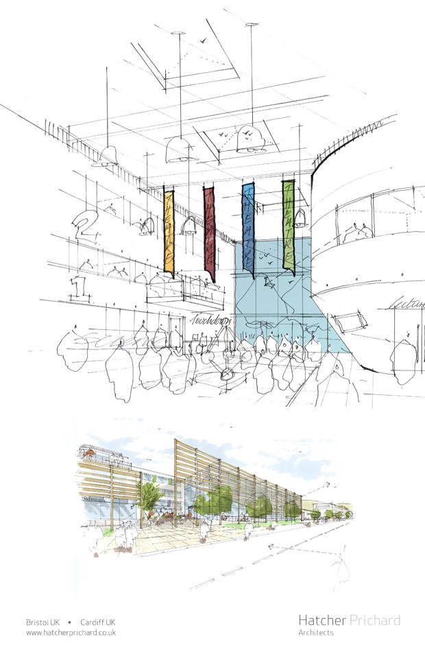 Hatcher Prichard Architects Bristol Cardiff_New York Sketch Exhibition_D3 Space_3