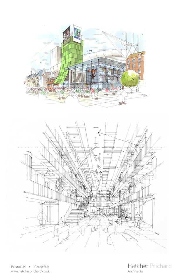 Hatcher Prichard Architects Bristol Cardiff_New York Sketch Exhibition_D3 Space_4