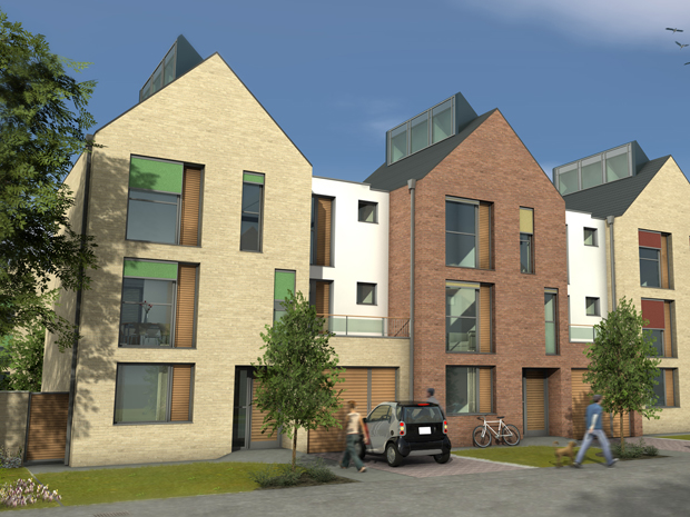 Hatcher Prichard Architects Bristol Cardiff_Sustainable Code 5 Housing Frontage