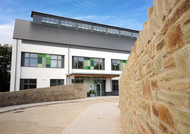 Hatcher-Prichard Architects_Bristol Cardiff_Monmouthshire Housing Association HQ_Main Door