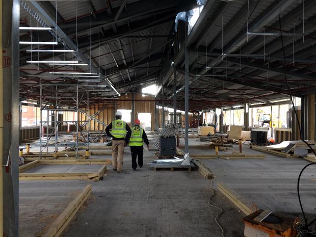 Hatcher-Prichard-Architects-Bristol-Cardiff_Adamsdown_Progress_Steel Frame_Section