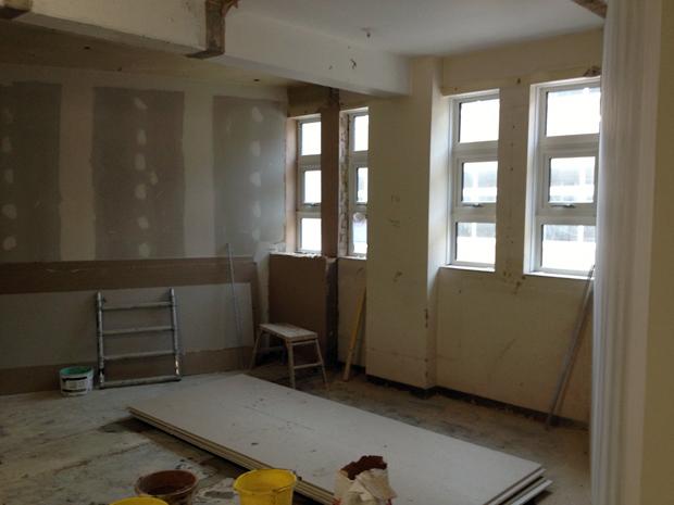 hatcher-prichard-architects-bristol-cardiff_bristol-free-school_under-construction_classroom-refurbishment-plasterboard
